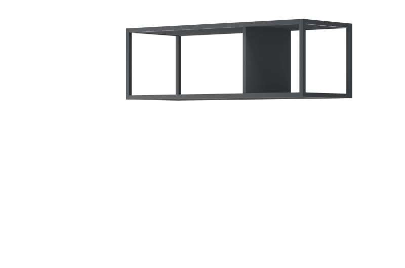 Suport pentru rafturi Curtis, 30x90x35 cm, pal/ metal, gri poza