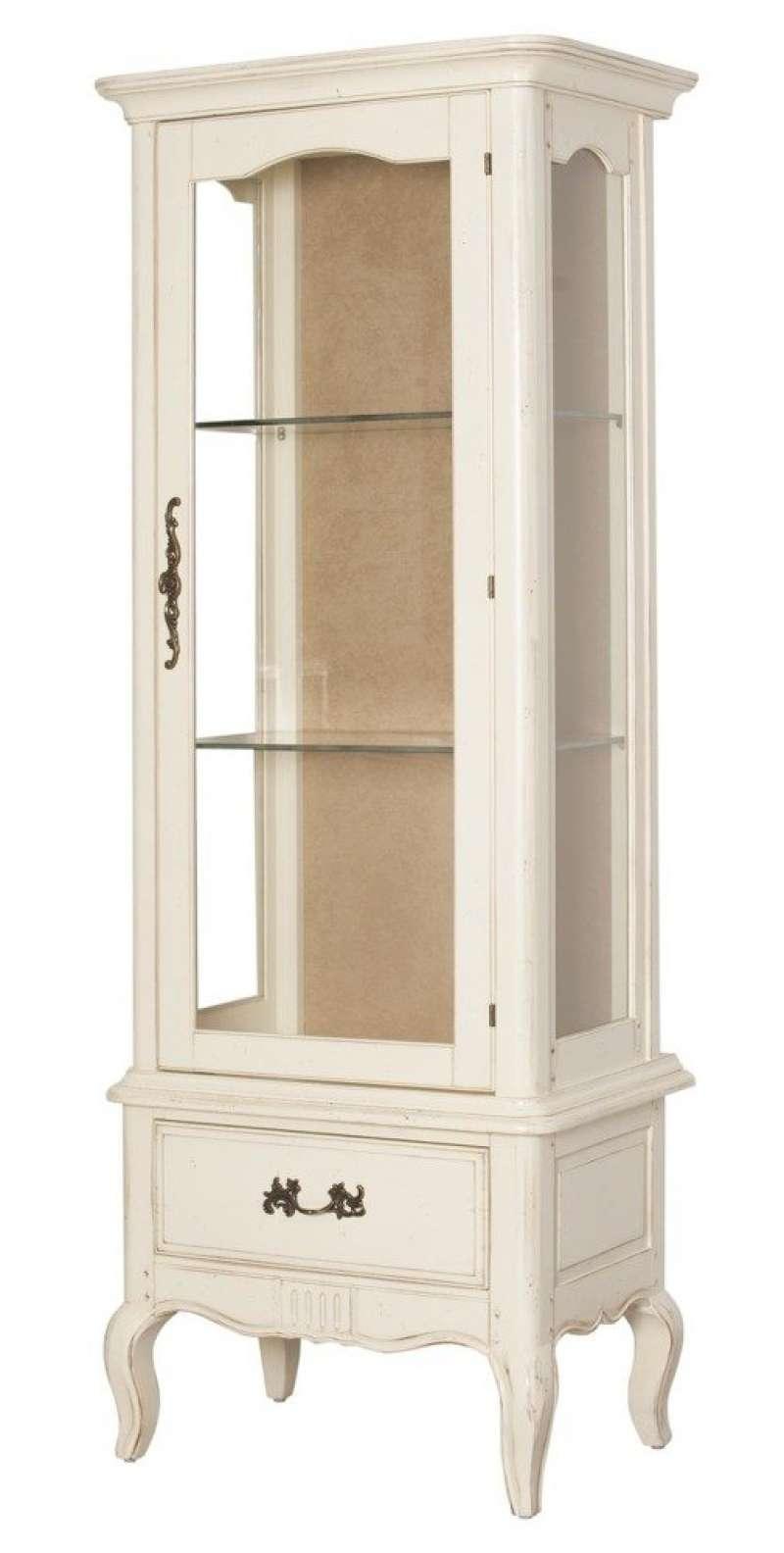 Vitrină înaltă cu ușă și sertar Albertine poza