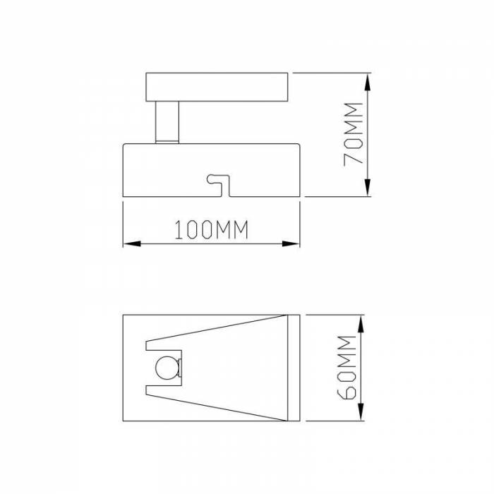 Aplică de perete cu led Mittie, 7x6x10 cm, metal, negru