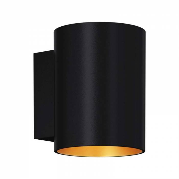 Aplică de perete Mayra, 9,8x10,2x8 cm, aluminiu, negru/ auriu
