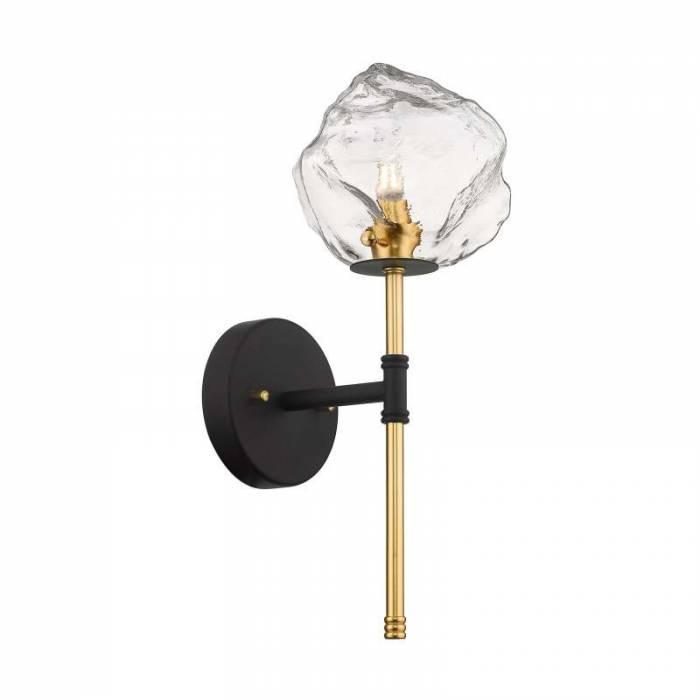Aplică Juli, 41x41x14 cm, sticla, auriu/ negru