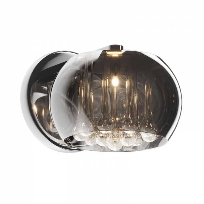 Aplică Mariela, 21x26x22 cm, cristal/ sticla/ metal, transparent/ crom