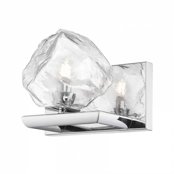 Aplică Mayme, 19x17x20 cm, metal/ sticla, transparent/ argintiu/ crom