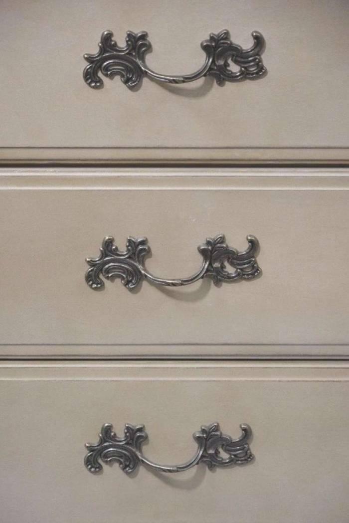Bufet cu uși și sertare Dominica , 95x150x52 cm, lemn de mesteacan/ metal, bej
