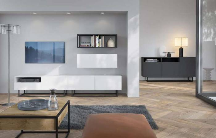Comodă TV cu raft și ușă Curtis, 47x120x37 cm, pal/ metal, alb