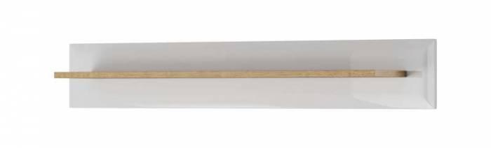 Etajeră Alix, 17x107x19 cm, pal/ mdf/ lemn de stejar, maro/ alb