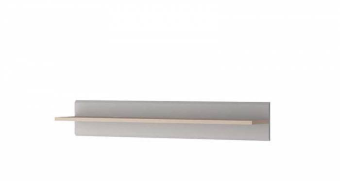Etajeră Augusta, 17x90x19 cm, pal, gri
