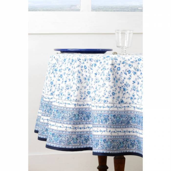 Față de masă Gentiane Bleu Blanc 180 cm