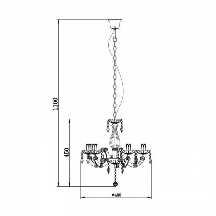 Lustră Nicola, 110x67,5x67,5 cm, metal/ acril, alb