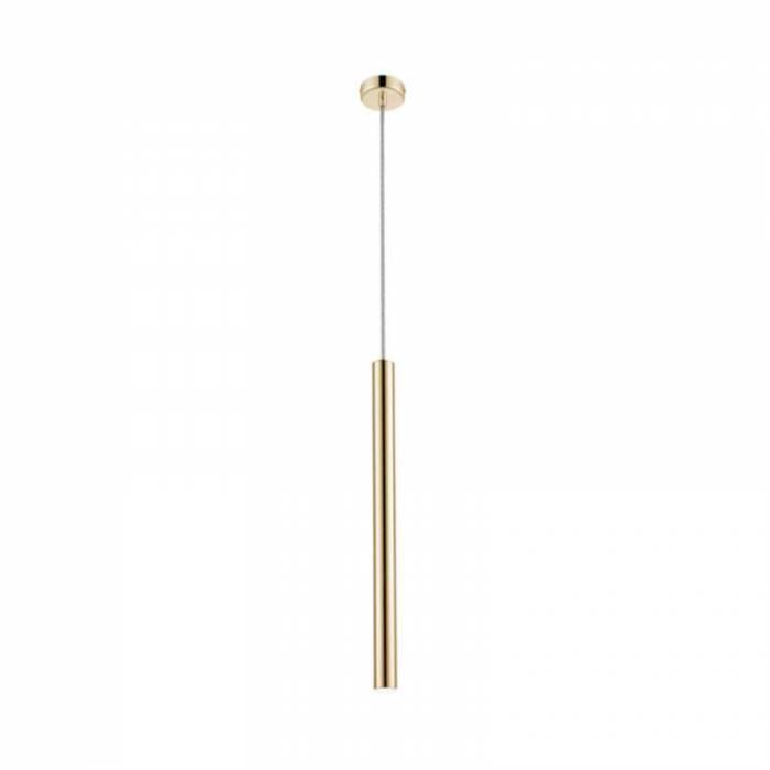 Lustră pendul cu led Marybelle, 64-140x8x8 cm, metal, auriu