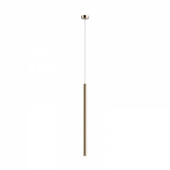 Lustră pendul cu led Regan, 64-140x8x8 cm, metal, auriu