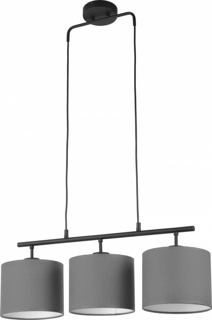Lustră pendul cu trei becuri Voncile, 80x70x20 cm, metal, grafit/ negru