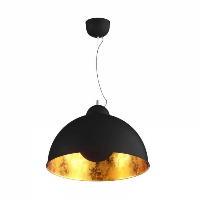 Lustră pendul Maura, 161,5x53x53 cm, metal, negru/ auriu