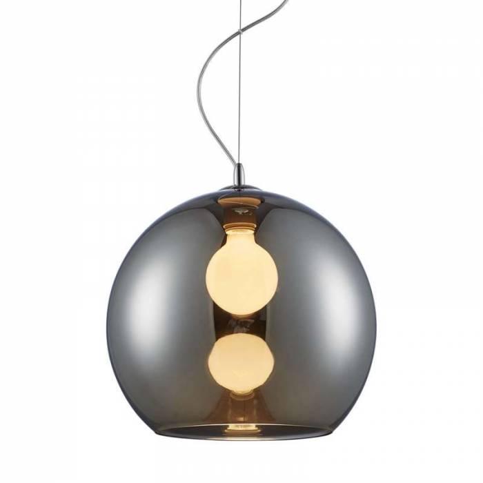 Lustră pendul Nelida, 120x35x35 cm, metal/ sticla, crom