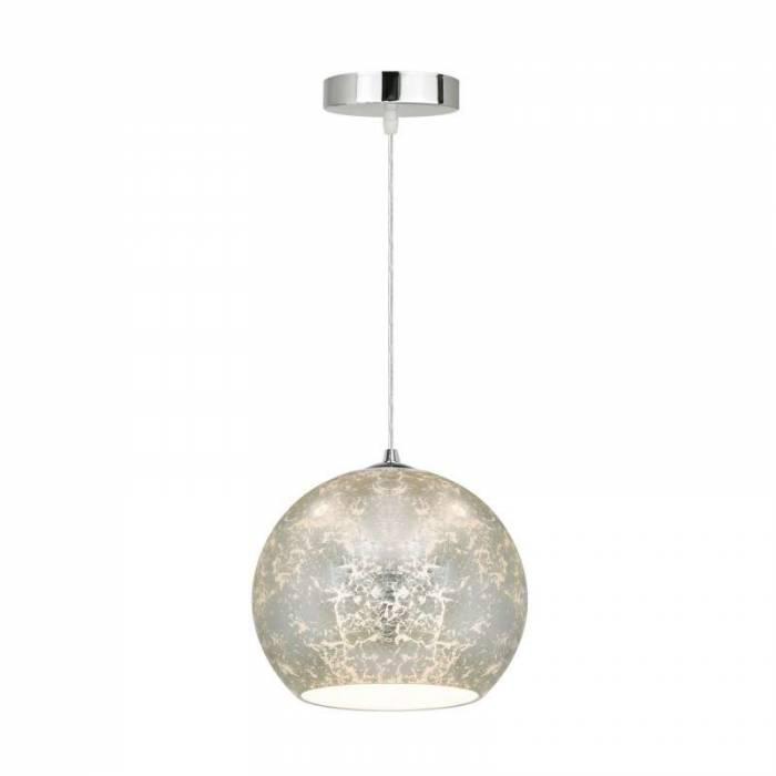 Lustră pendul Phil, 120x30x30 cm, sticla, crom/ argintiu
