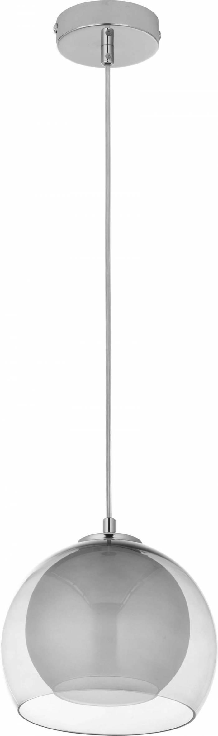 Lustră pendul Tanja, 100x20x20 cm, metal/ sticla, grafit/ crom