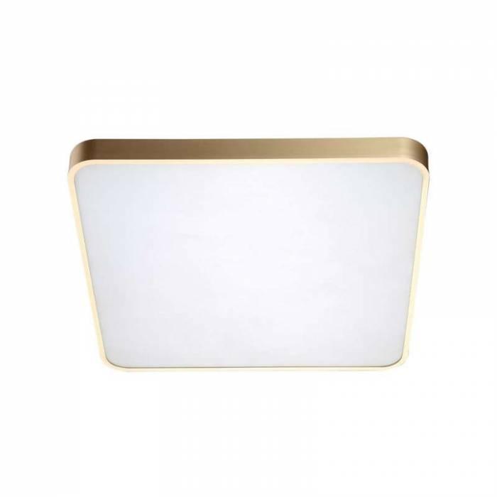Plafonieră cu led Queenie, 5,8x40x40 cm, metal/ plastic/ aluminiu, auriu