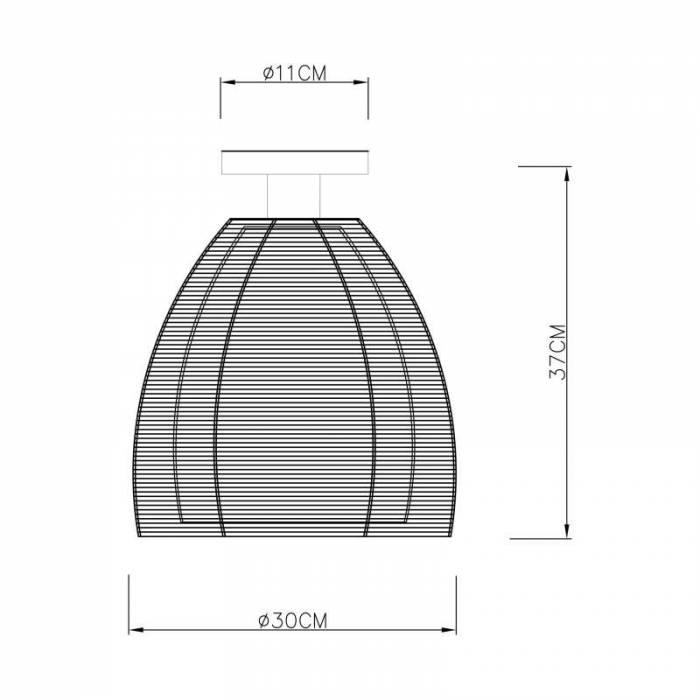 Plafonieră Ossie, 37x30x30 cm, sticla/ aluminiu, argintiu/ crom