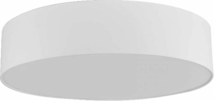 Plafonieră rotundă Tamar, 13x60x60 cm, metal, alb