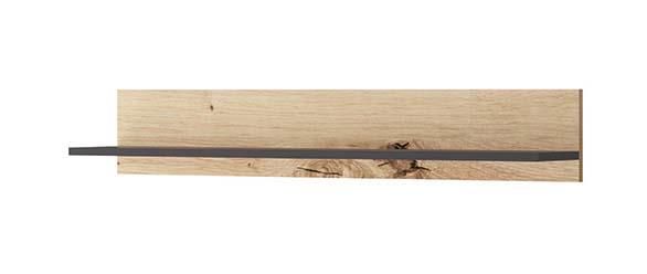 Raft Brooke, 17x102x19 cm, pal, maro/ negru