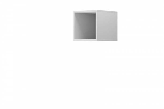 Raft cubic Curtis, 30x30x35 cm, pal, alb