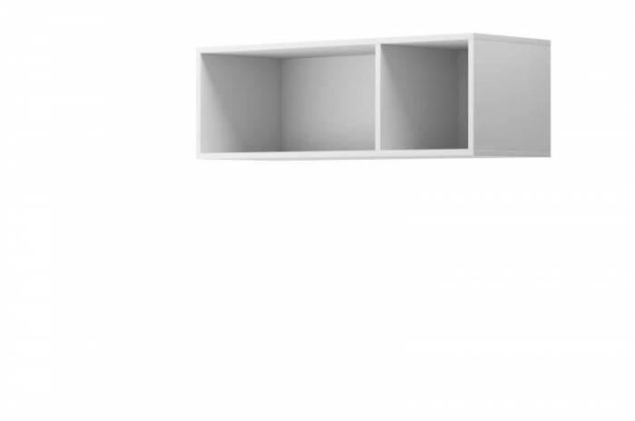 Raft de perete Curtis, 30x90x35 cm, pal, alb