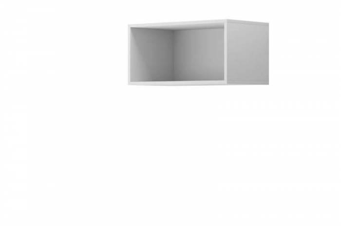 Raft dreptunghiular Curtis, 30x60x35 cm, pal, alb