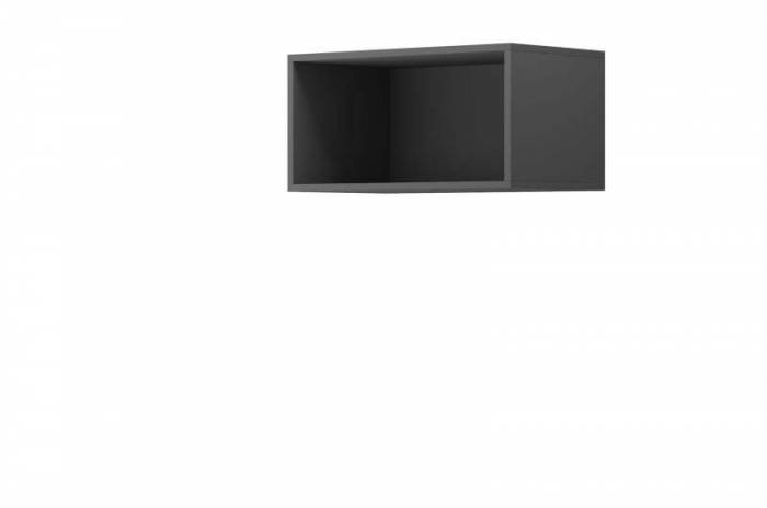 Raft dreptunghiular Curtis, 30x60x35 cm, pal, gri