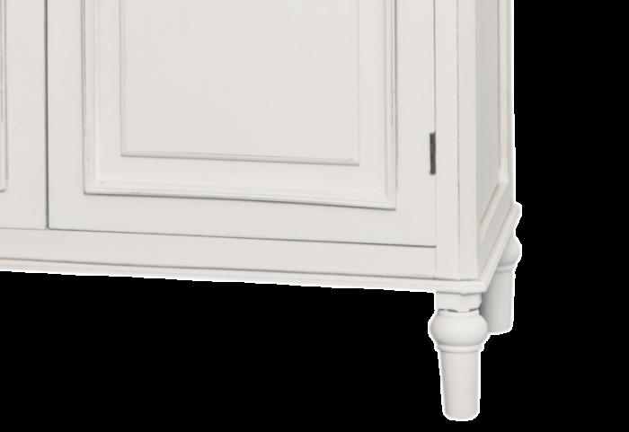 Bibliotecă cu două uși Collin, 180x87x35 cm, lemn de plop/ mdf/ metal, alb/ maro