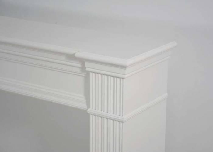 Cadru șemineu Herman, 99x121x27 cm, lemn de plop/ mdf, alb