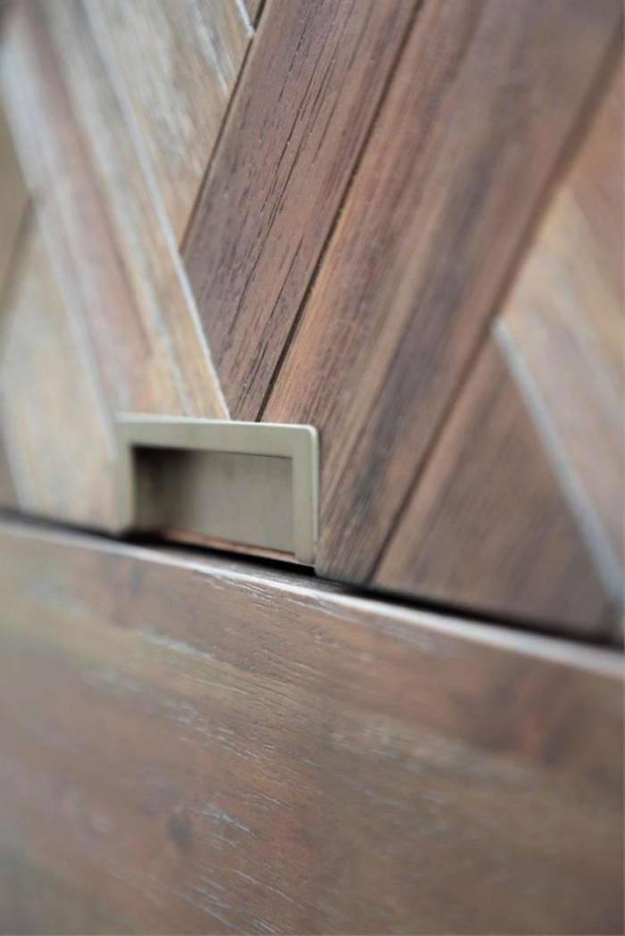 Comodă cu cinci sertare Genaro, 105x100x45 cm, lemn de acacia, maro