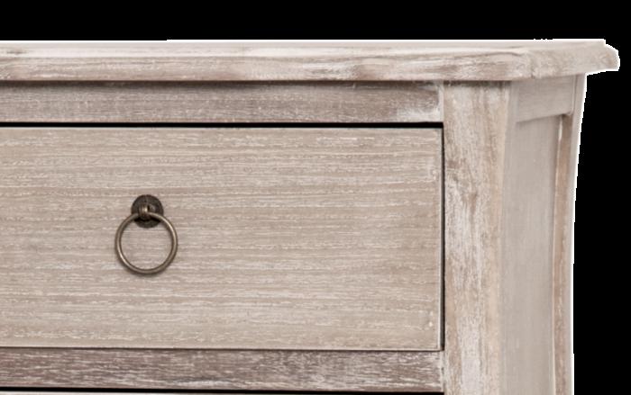 Comodă cu cinci sertare Gilbert , 101x47x35 cm, lemn de plop/ mdf/ furnir/ metal, maro deschis