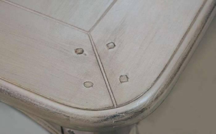 Comodă cu nouă sertare Dominica , 85x120x52 cm, lemn de mesteacan/ metal, bej