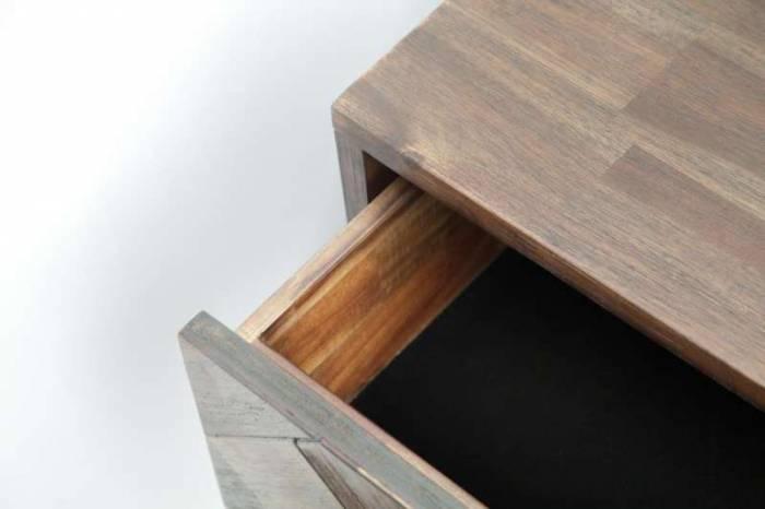Comodă cu șase sertare Genaro, 80x155x45 cm, lemn de acacia, maro