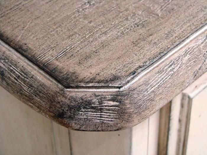 Comodă înaltă cu șapte sertare Ebonie, 95x53x36 cm, lemn de arbore de cauciuc/ furnir/ metal, ivoire/ maro