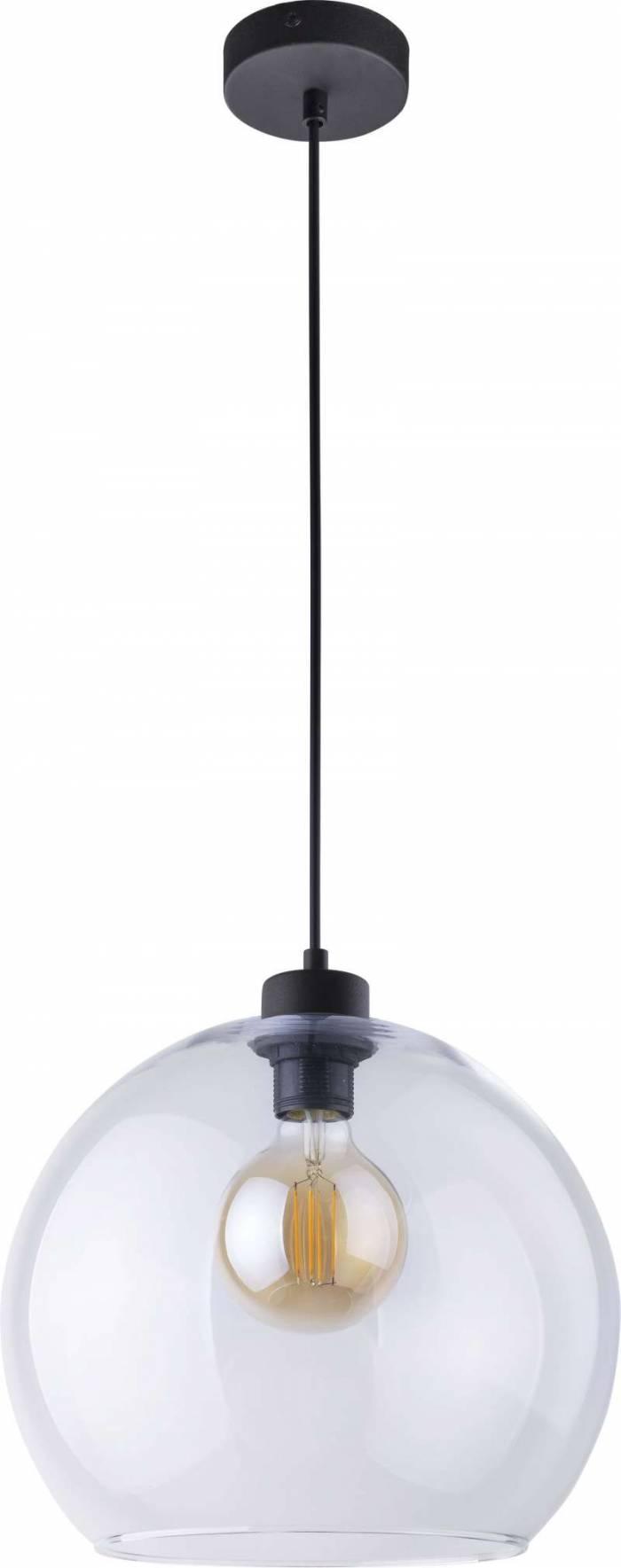 Lustră pendul Sarah , 120x30x30 cm, metal/ sticlă/ plastic, transparent/ negru