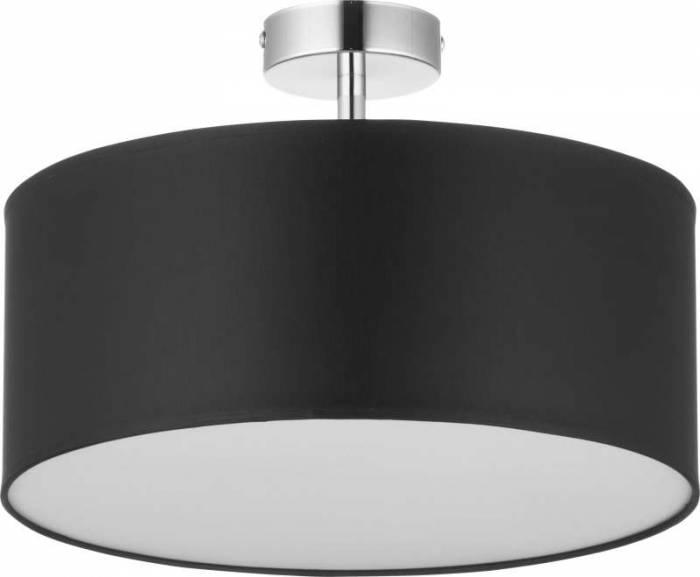 Lustră rotundă Suzette, 38x40x40 cm, metal, negru/ crom