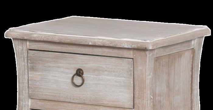 Noptieră cu două sertare Gilbert, 68x40x31 cm, lemn de plop/ mdf/ furnir/ metal, maro deschis