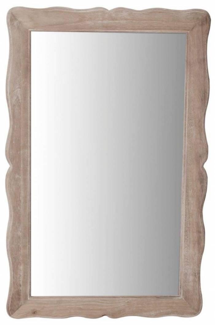 Oglindă de perete Cleopatra, 40x60x2 cm, lemn de plop/ mdf, maro deschis