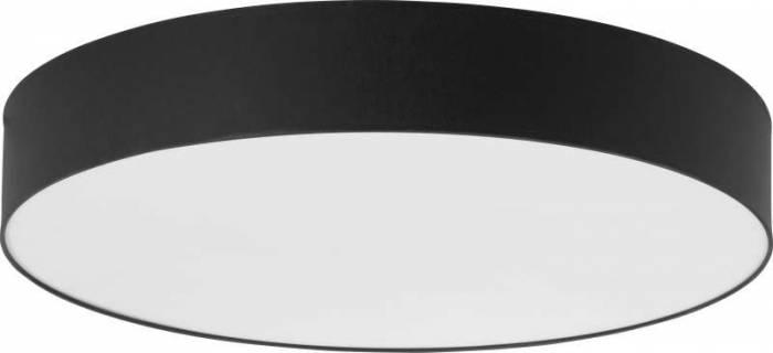 Plafonieră rotundă Tamar, 13x80x80 cm, metal, negru/ alb