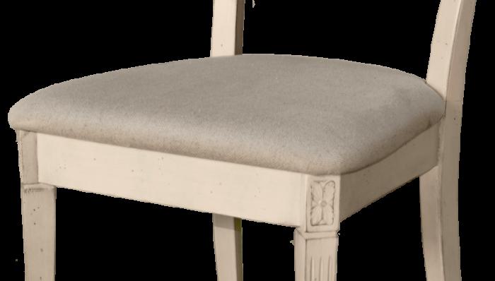 Scaun living Ebonie, 89x48x56 cm, lemn de arbore de cauciuc/ furnir, ivoire