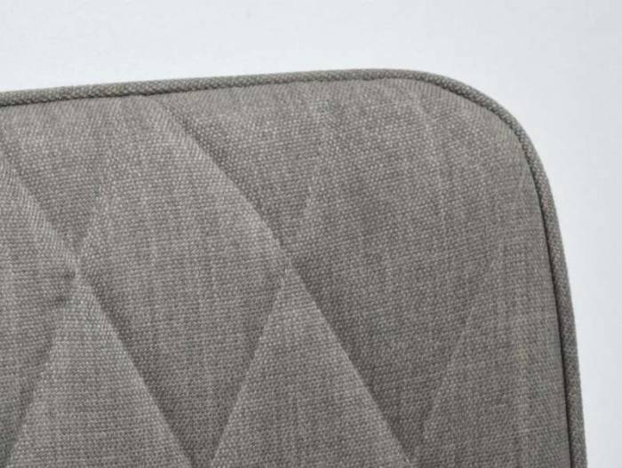 Scaun tapițat Beth, 92x57x63 cm, textil/ metal, gri/ negru