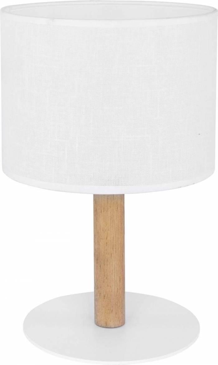 Veioză Tomoko, 34,5x18x18 cm, lemn/ metal, alb/ pin