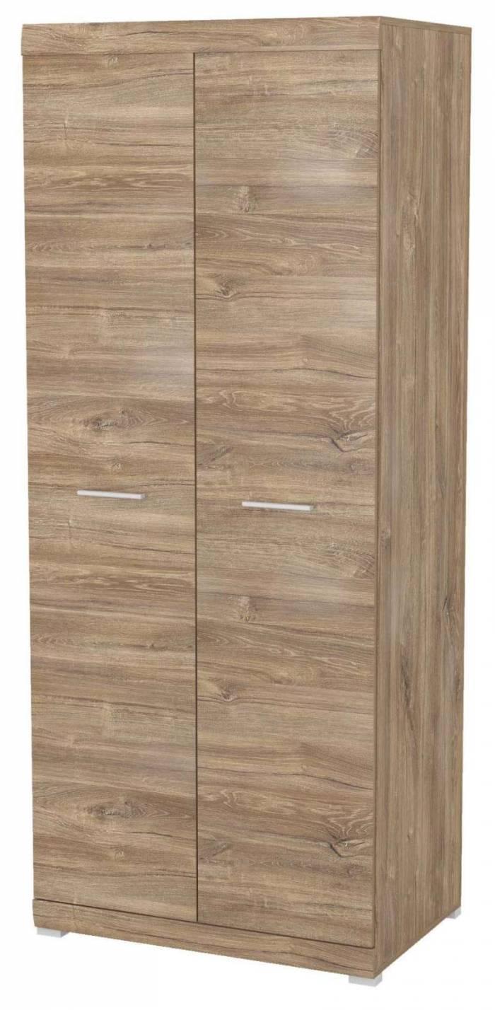 Șifonier Brandi, 197x80x52 cm, pal/ mdf/ plastic, maro