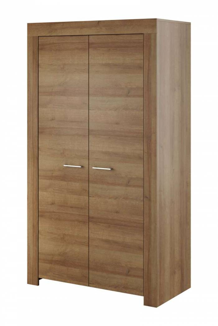 Șifonier cu uși Iraida, 197x110x54 cm, pal/ plastic, maro