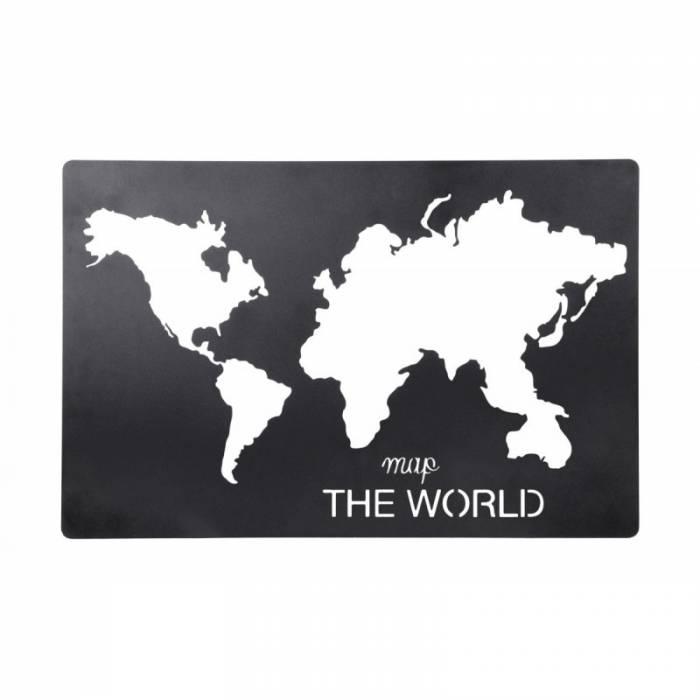 Tablou harta lumii Handcraft Noir 40x60 cm