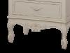 Bibliotecă cu două rafturi și trei sertare Jeraldine  , 180x59x36 cm, lemn de plop/ mdf/ metal, crem/ maro deschis