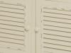 Comodă cu patru uși Cleopatra, 90x90x38 cm, lemn de plop/ mdf/ metal, crem/ maro deschis