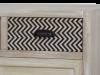 Comodă cu raft, trei sertare și trei uși Hilaria, 86x120x35 cm, lemn de plop/ mdf/ metal, maro deschis