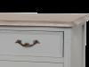 Comodă cu sertare și uși Gina , 90x118x45 cm, lemn de plop/ mdf/ metal, gri/ maro deschis